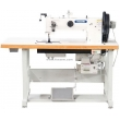 Double Needle Triple Feed Walking Foot Heavy Duty Sewing Machine for Leather Upholstery and Webbings