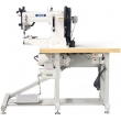 Cylinder Bed Top and Bottom Feed Extra Heavy Duty Thick Thread Sole Border Stitching Machine